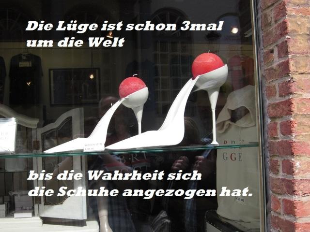 Spruch der Woche Schuhe 04.08.2016