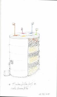 15. Tintenfilterfaß